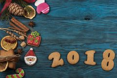 Pains d'épice pendant de nouvelles 2017 années Photo libre de droits