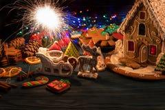 Pains d'épice pour de nouvelles années et Noël Image libre de droits