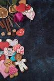 Pains d'épice pour l'amour ou le marrige Photographie stock libre de droits