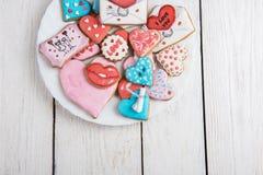 Pains d'épice pour le jour de valentines Photographie stock libre de droits