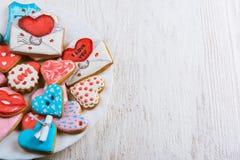 Pains d'épice pour le jour de valentines Image stock