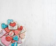 Pains d'épice pour le jour de valentines Photos stock