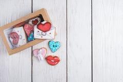 Pains d'épice pour le jour de valentines Images stock