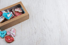Pains d'épice pour le jour de valentines Photo stock