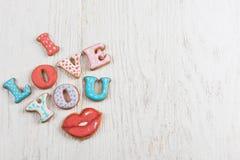 Pains d'épice pour le jour de valentines Photographie stock