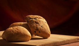 3 pains de ciabatta Image libre de droits