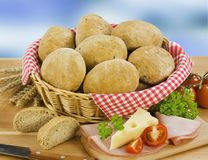 Pains de pain complet Photos libres de droits