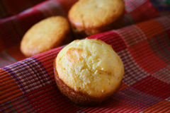 Pains de pain de maïs Photo stock
