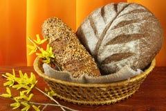 Pains de pain frais cuits au four Photographie stock libre de droits