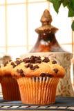 Pains de puce de chocolat image stock