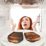 Pains grillés brûlés Images stock