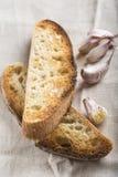 Pains grillés de pain à l'ail photo stock