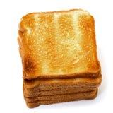Pains grillés de pain de tas Image libre de droits
