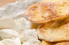 Pains grillés français de petit déjeuner Images libres de droits