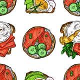 Pains grillés sans couture de petit déjeuner illustration libre de droits
