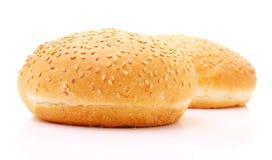 Pains pour l'hamburger Images libres de droits