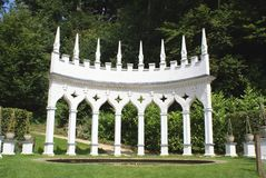 Painswick洛可可式庭院 库存照片