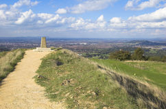Painswick Beacon. View of Gloucester City from Painswick Beacon, Gloucestershire, England Royalty Free Stock Image