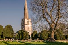 Painswick St Mary på påsken Tid Arkivbilder