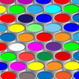 Paint. Illustration of metallic capacity with a paint. Vector Royalty Free Stock Images