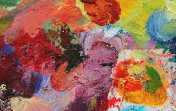 Paint. Colorful grunge oil paint background Stock Images
