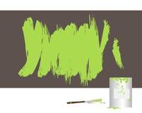 Paint. Ed wall stock illustration