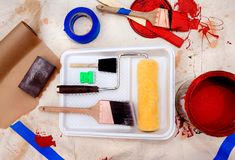 Paint. Ing supplies Stock Images