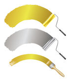 Paint accessories Stock Image