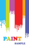 Paint Background. Paint colorful dripping background illustration Royalty Free Stock Photos