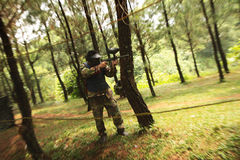 Paint Ball Game Stock Photography