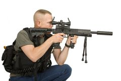 Paint ball soldier stock images