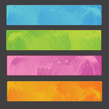 Paint banners Stock Photography