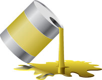 Paint barrel Stock Photography