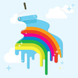 Paint a beautiful (rainbow) life Royalty Free Stock Photography