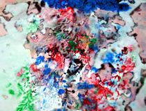 Paint black green blue colors and hues. Abstract wet paint background. Painting spots. stock photo