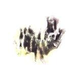 Paint black splash ink stain watercolour blob spot Stock Image