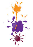 Paint blobs Stock Images