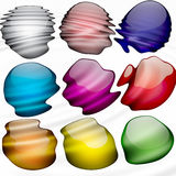 Paint blobs. An arrangement of colorful swatches that look just like paint blobs on a painter's palatte Royalty Free Stock Image