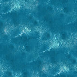 Paint blue abstract water sea waves watercolor seamless texture hand painted background Stock Image