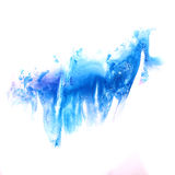 Paint blue splash ink stain watercolour blob spot Stock Photography
