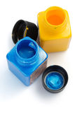 Paint and bottle  on white Royalty Free Stock Images