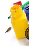 Paint and bottle  on white Stock Images