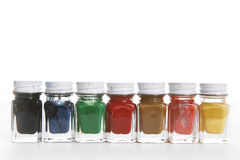 Paint Bottles Stock Photos