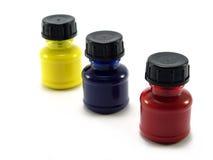 Paint bottles. Isolated Royalty Free Stock Photo