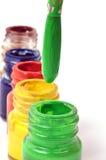 Paint bottles Stock Image