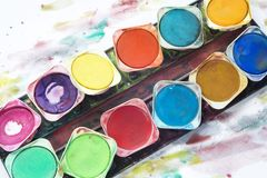 Paint box Stock Image