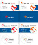 Paint box business card Royalty Free Stock Images
