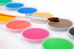 Paint box  on white background Royalty Free Stock Photo