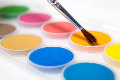 Paint box  on white background Royalty Free Stock Photography