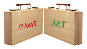Paint Boxes Royalty Free Stock Photos